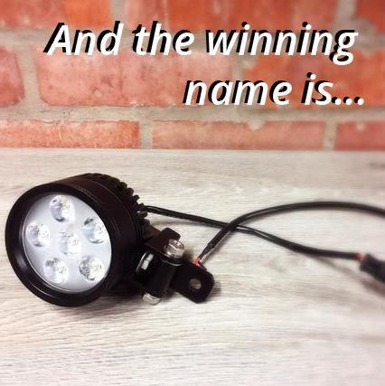 Name Our New Motorbike Light Competition Winner
