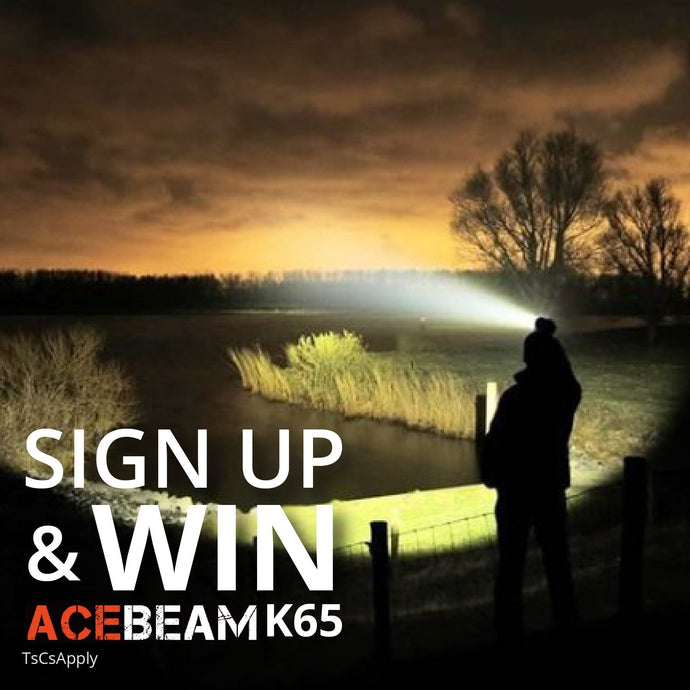 Sign Up To Our Newsletter & Stand A Chance To Win The Acebeam K65 Flashlight
