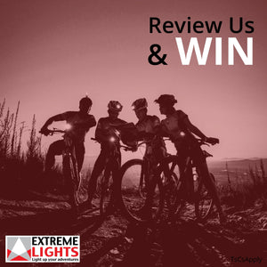 Review Us & You Can Win 2 Ultimate+ Cycle Lights