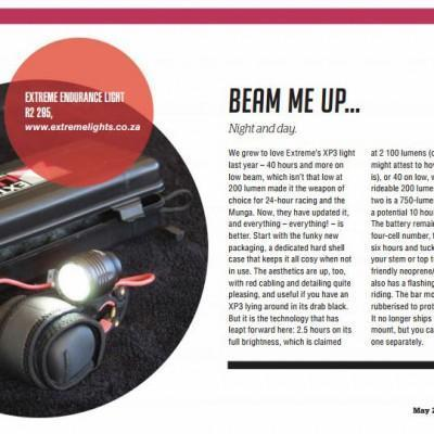 Ride Magazine May 2016 – Endurance Cycle Light Review