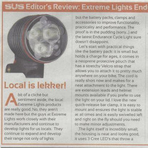 FullSus May 2016 Extreme Lights Endurance Cycle Light Review