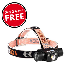 Extreme Lights | Acebeam H30 LED Rechargeable Headlamp - Buy 2 + Get 1 Free | the best Headlamps ever!