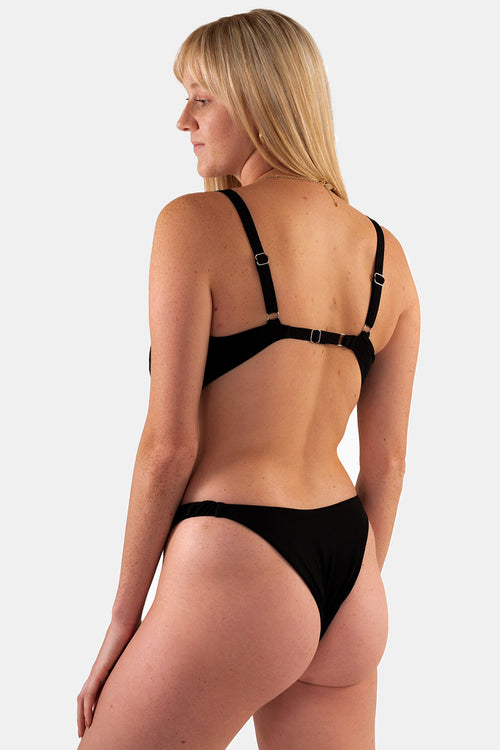 Cheeky Zoey Bottom // Black Rib