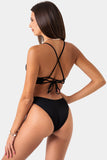 Cheeky Retro Bottom // Black RIB