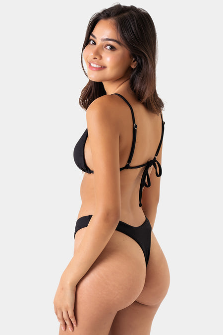 Cheeky Tie Bottom // Black