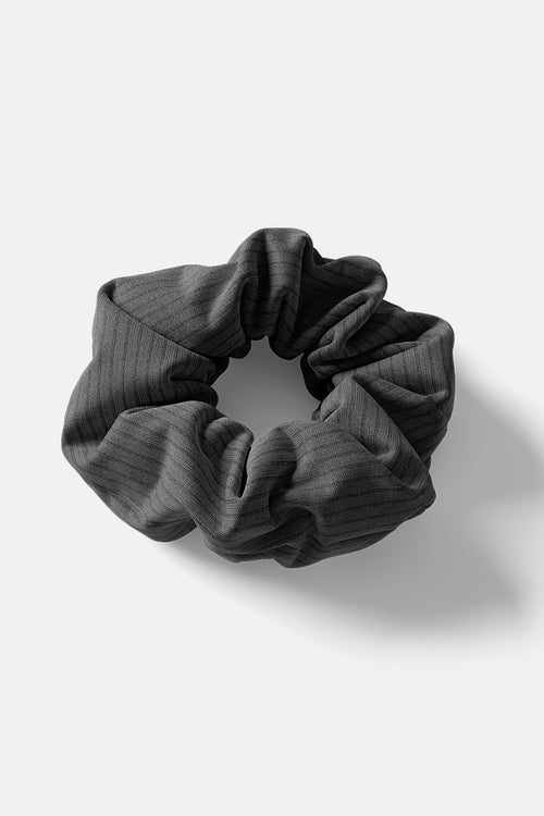 Scrunchie // Black Rib