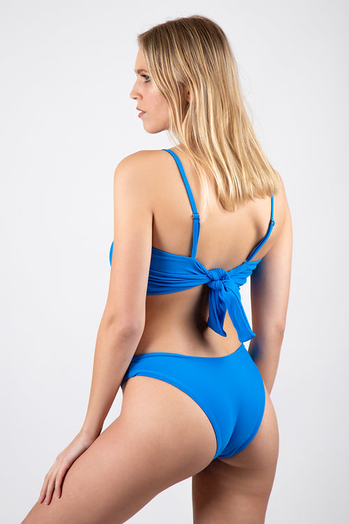 Electric Blue Retro Bottom