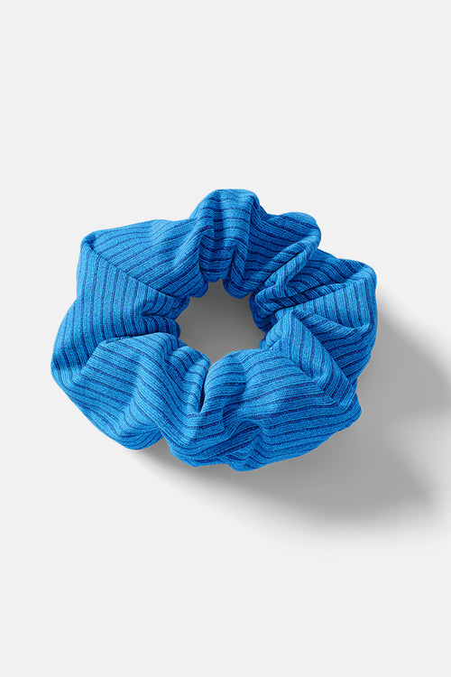 Scrunchie // Blue Rib