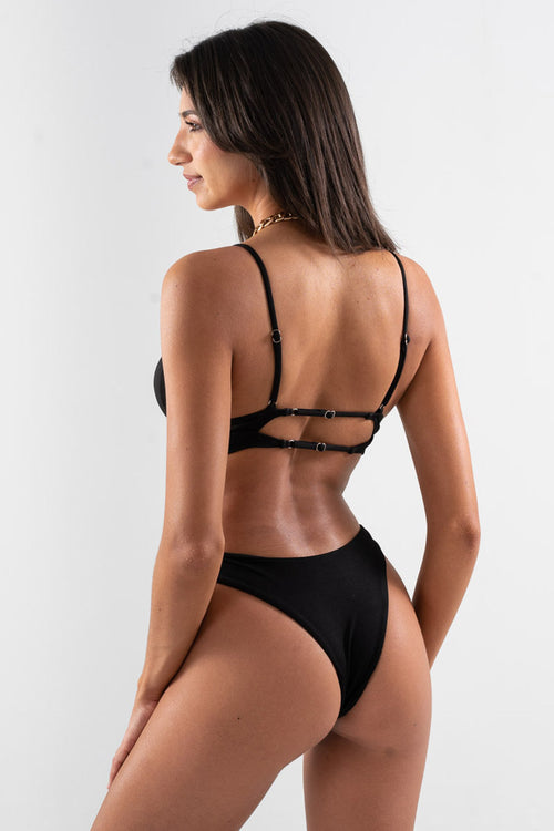 Cheeky Ariel Bottom // Black RIB