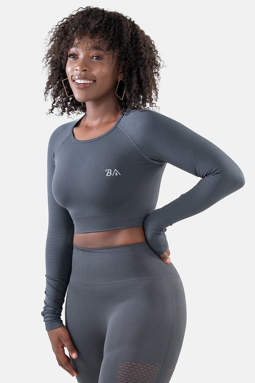 Ignite Seamless Long Sleeve  // Charcoal