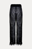Tassel Knit Pants // Black