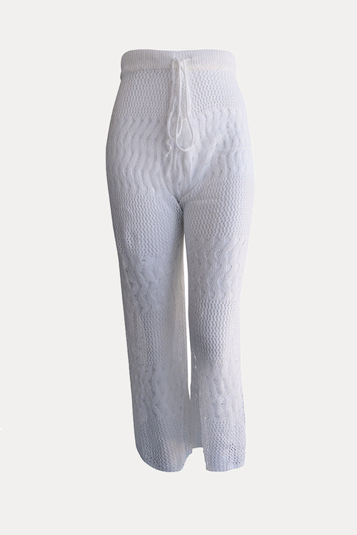 Curve Knit Pants // White