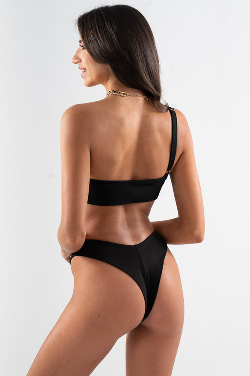 Cheeky Lilo Bottom // Black RIB