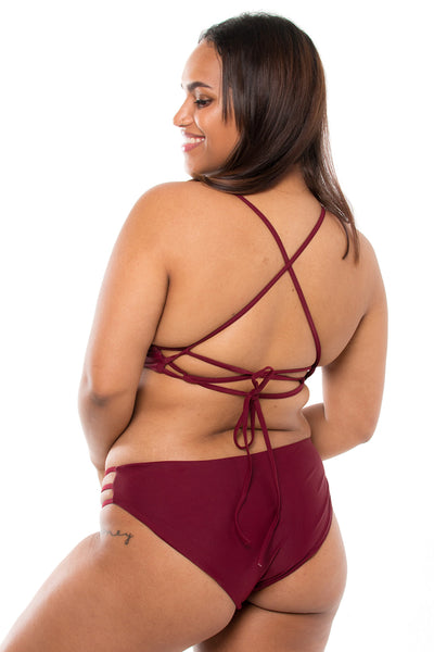 Classic Maroon Strappy Bottom
