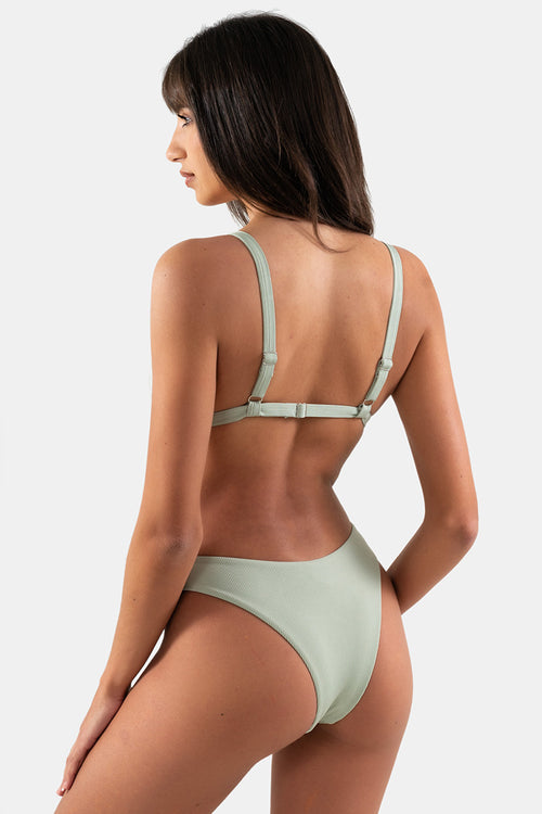 Cheeky Ariel Bottom // Olive RIB