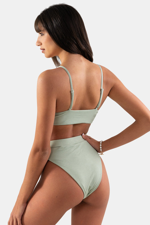 Summer Bottom // Olive RIB