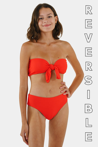 Tide Reversible Top // Cherry RIB