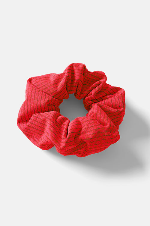 Scrunchie // Red Rib