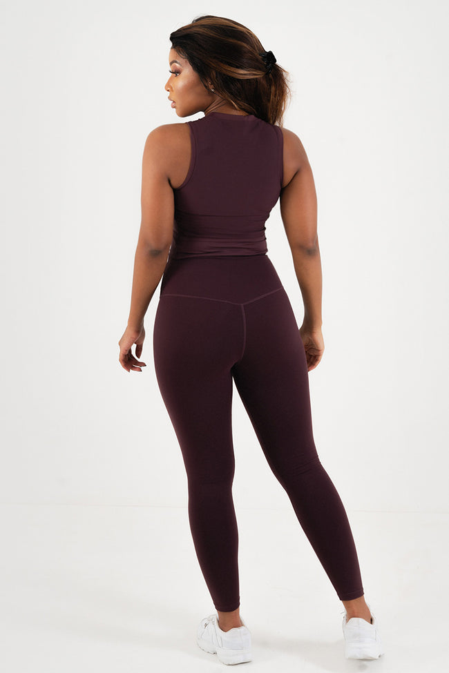 Core Leggings // Maroon