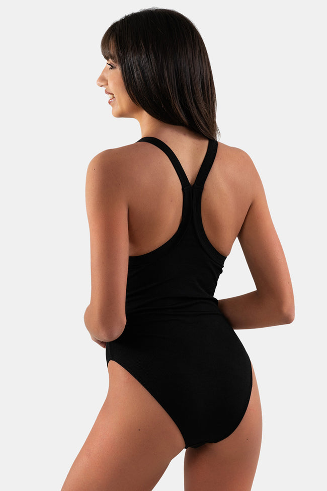 Viola One Piece // Black Rib