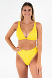 Debbie Top // Yellow RIB