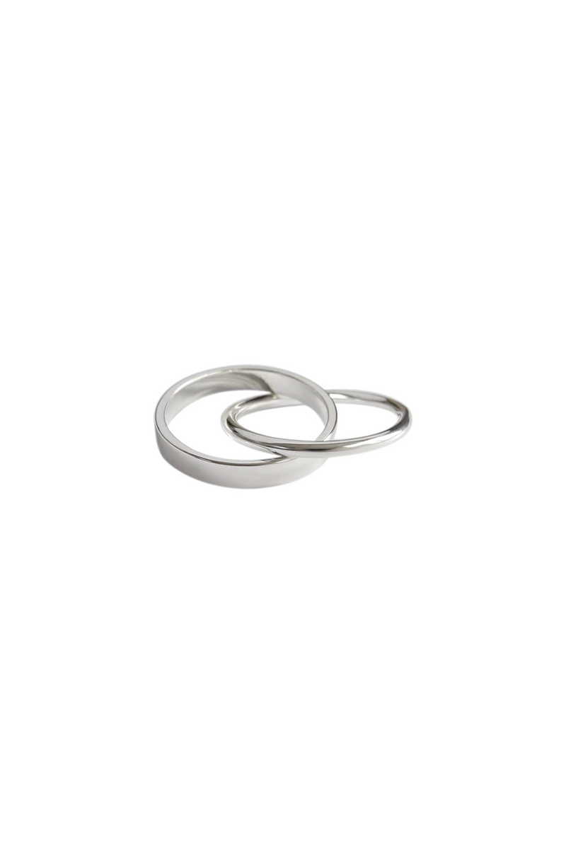 Double Stack Ring in 925 Sterling Silver