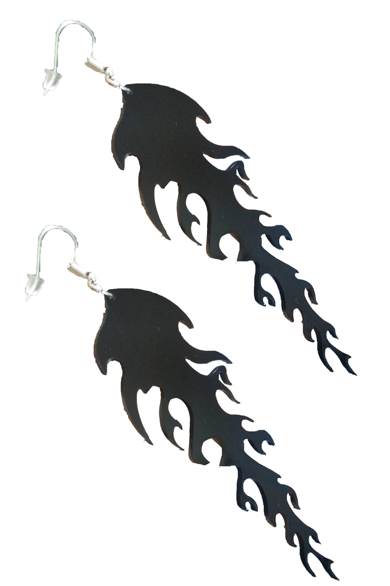 Inferno Earrings in Black