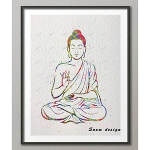 Buddha OM Mudra Bliss Yoga Wall Art - Yogi Clan
