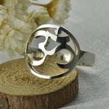 Sterling Silver Om Yogi Ring - Yogi Clan
