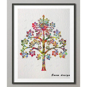 Original Watercolor Buddha Tree of Life Yogi Wall Art - Yogi Clan