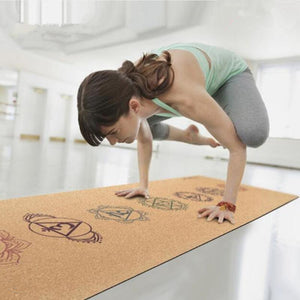 Natural Cork Rubber Non Slip Yoga Mat 183cm *61cm*3mm - Yogi Clan