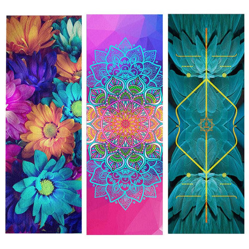 Natural Rubber & Suede Mandala Collection Ultra-light Mat - Yogi Clan