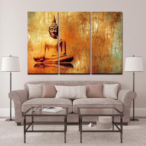 Buddha Art of Meditation Oil Effect Canvas Modern Decor - Yogi Clan