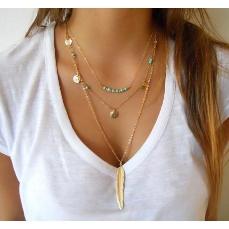 Multilayer Gold Color Tassels Necklace - Yogi Clan