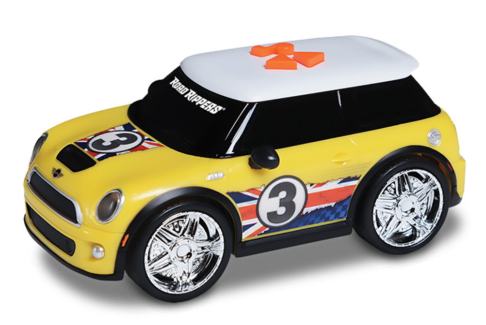 Road rippers street screamers mini cooper keltainen, pieni leluauto