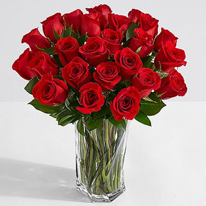 Two Dozen Long Stemmed Red Birthday Roses