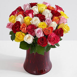 Three Dozen Rainbow Roses