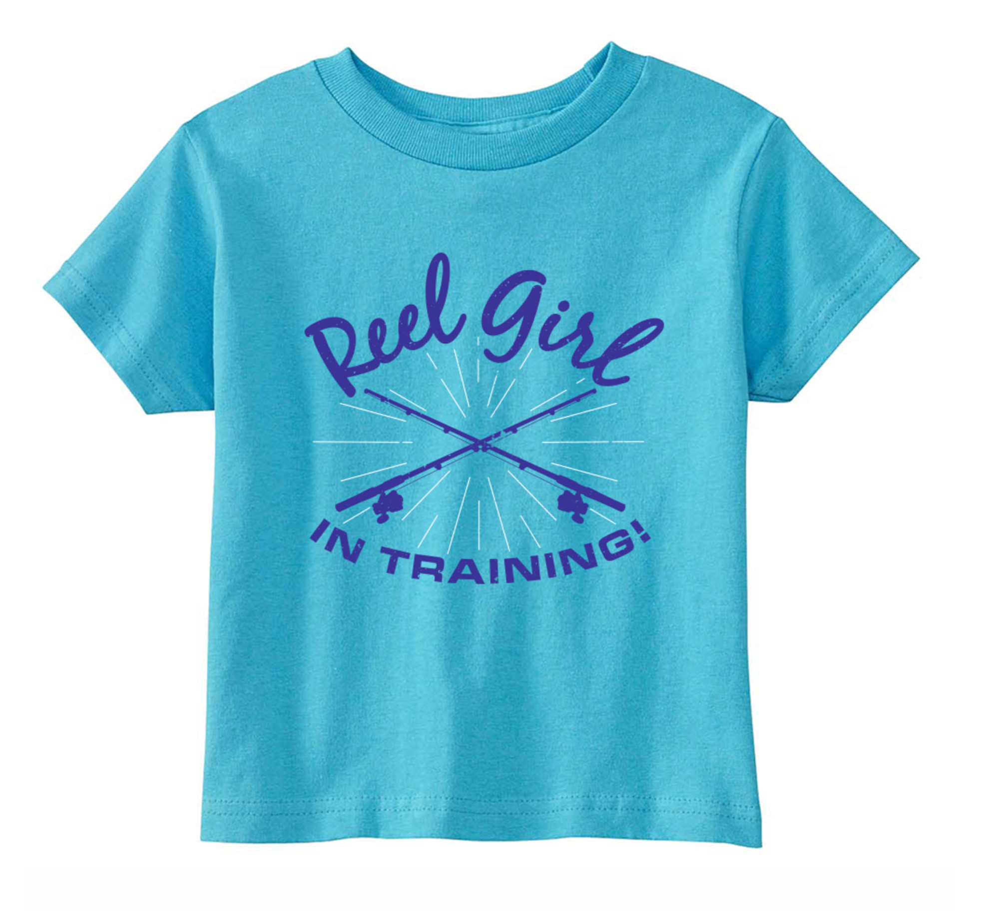 Toddler/Children's Reel Girl in Training Scoop Neck T-Shirt - Aqua - Destin Outdoors