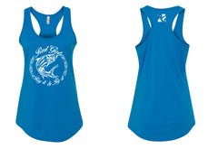 Tarpon Rig It & Jig It Tribal Racerback Tank Top - Blue with White - Destin Outdoors