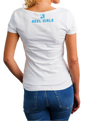 It's Not the Length of the Rod, It's the Skill Behind It V Neck T-Shirt - White - Destin Outdoors