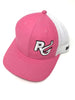 Reel Girls Logo Adjustable Trucker Hat - Pink with White - Destin Outdoors