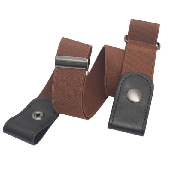 Buckle-free Stretch Belt Invisible Casual Elastic Waist Leather Belt
