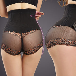 NEW Ultra-thin no trace hip high waist shaping body pants corset pants postpartum lace abdomen underwear ladies Shapers