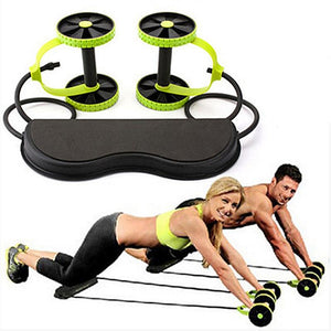 Muscle Exercise Fitness Equipment Double Wheel Abdominal Power Wheel Ab Roller Gym Roller Trainer Training