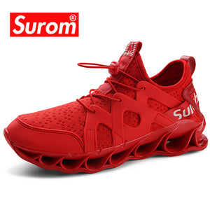 Mesh Sneakers Men shoes casual Red Breathable Comfortable Male White Lace up Men Sneakers