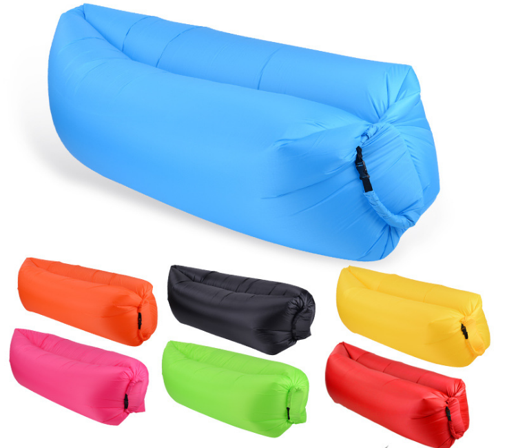 Outdoor products fast and breathable, sofa bed quality sleeping bag inflatable pillow lazy beach sofa recliner
