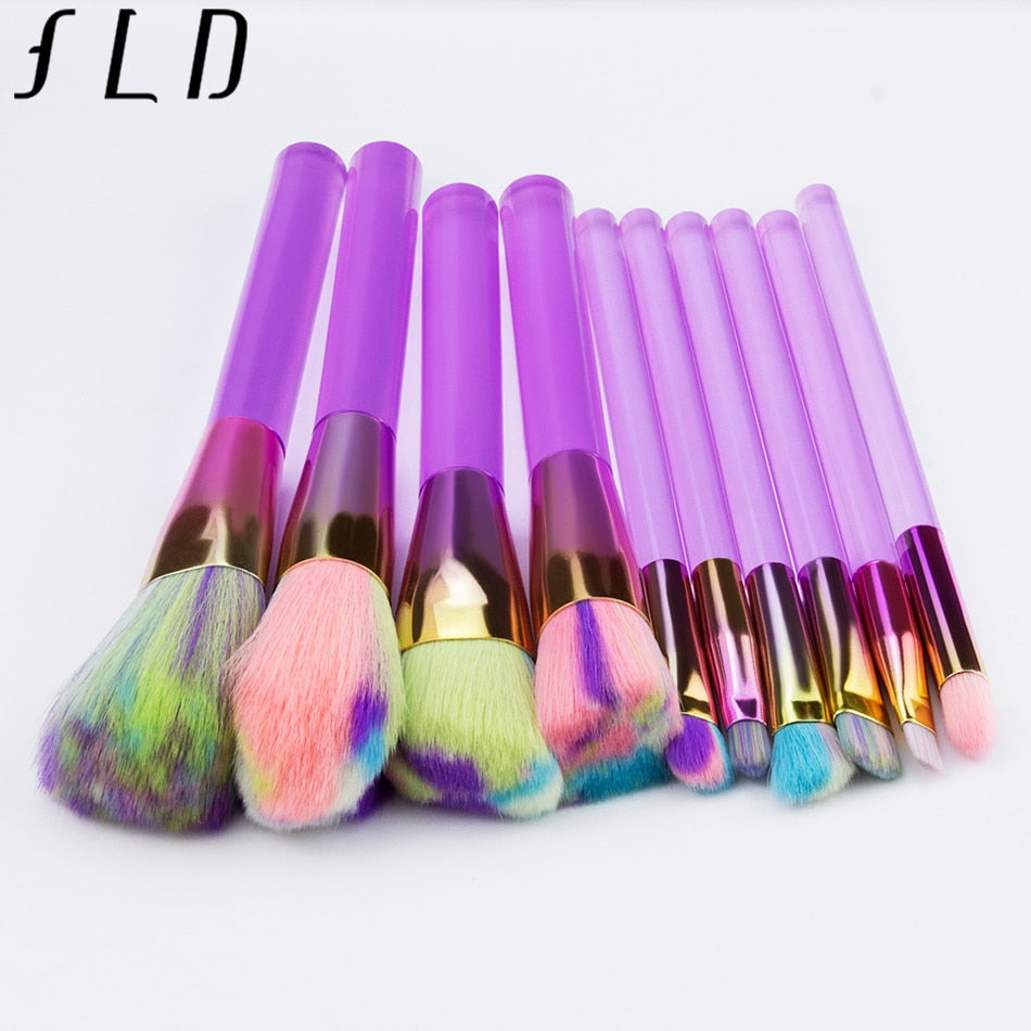 10 Makeup Brush Set
