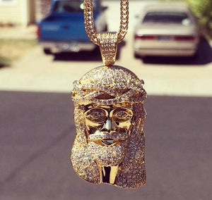 Vvs jesus head pendant with gold box chain apjewelers vvs jesus head pendant with gold box chain aloadofball Choice Image