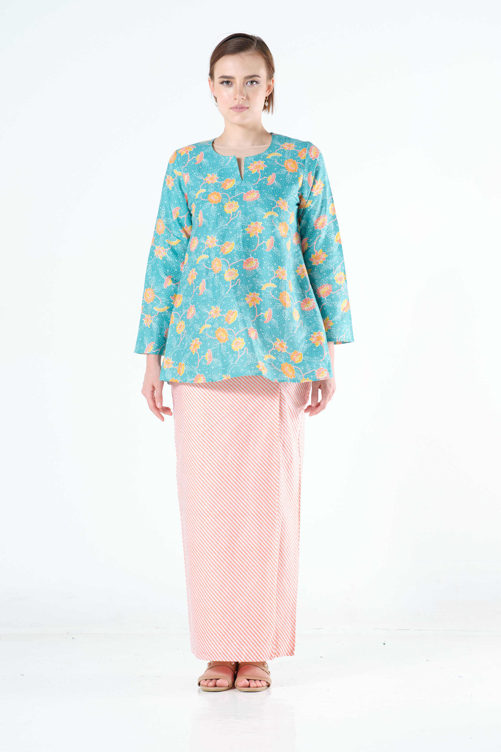 Sirin Sarung in Peach