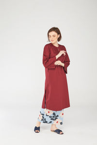 Fatimah Tunic Top in Maroon